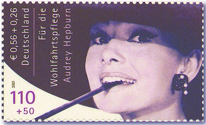 Audrey Hepburn - interesting facts about stamps