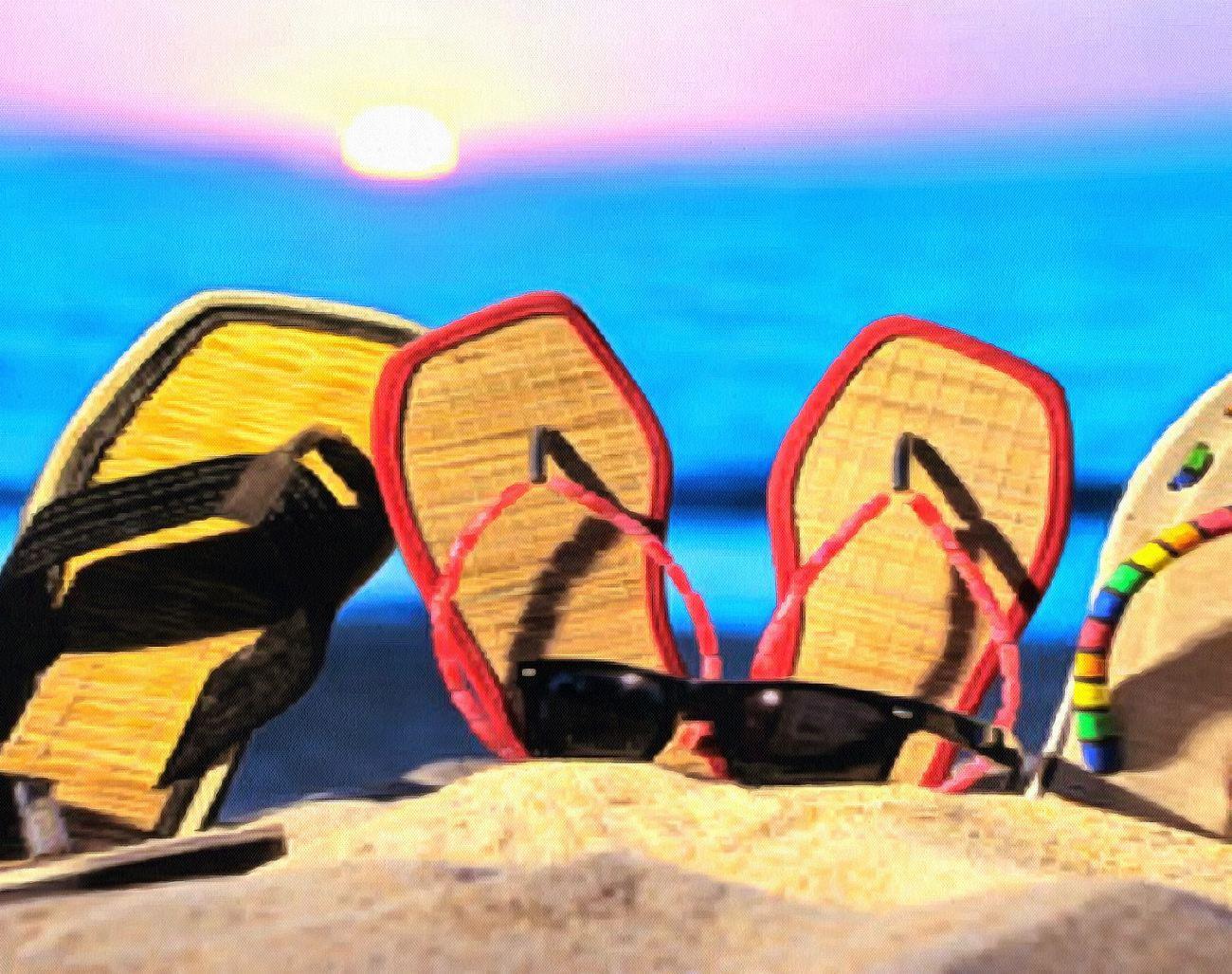 3 pairs of flip flops in Vietnam
