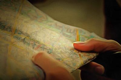 Folding road maps