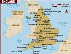 Interesting facts about size of England