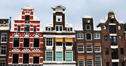 Tall and Narrow houses in Amsterdam