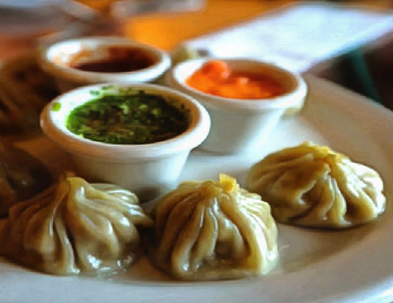 Momo dumplings in Nepal