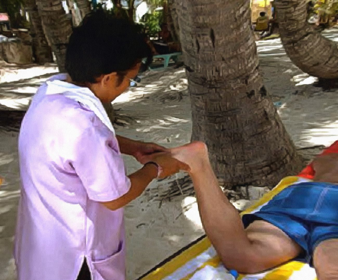 Foot massage in the Philippines